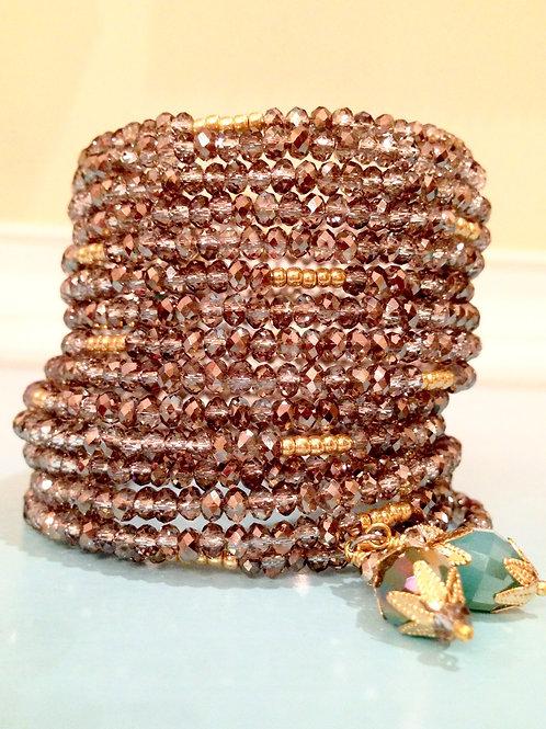 """""""Rue du Diamant""""Crystal Wrap Bracelet"""