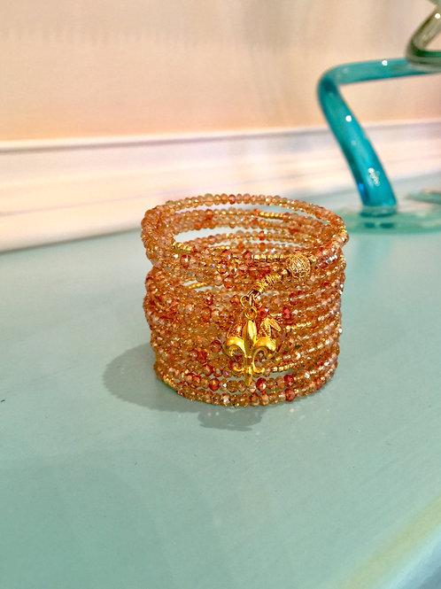 """Rêves de Champagne"" Crystal Wrap Bracelet"