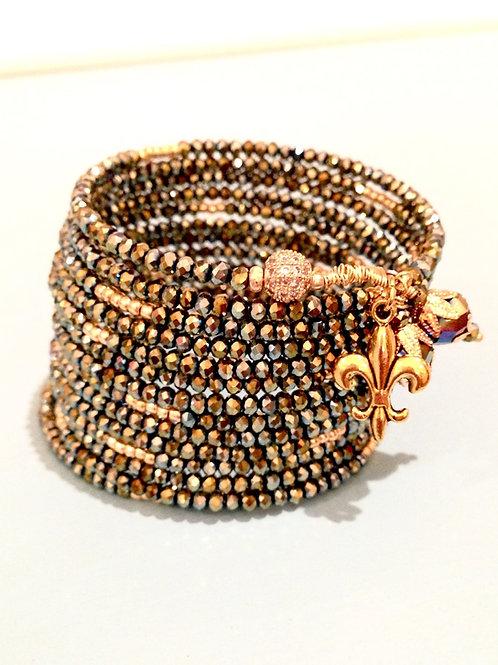 """La Grenouillère"" Crystal Wrap Bracelet"