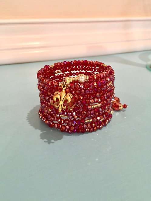 """Royal Rajah Rubis"" Crystal Wrap Bracelet"