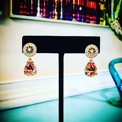 """Champagne Brilliance"" Red Carpet Earrings"