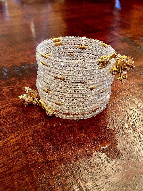 """""""Le Lac des Cygnes"""" Crystal Wrap Bracelet"""