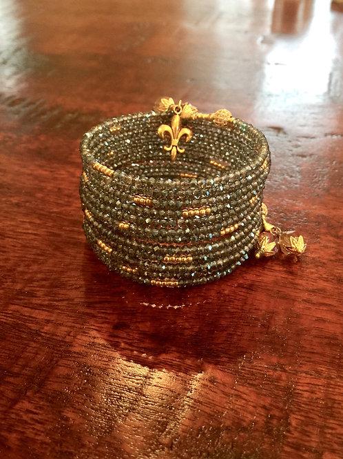 """""""Saphir Indien"""" Crystal Wrap Bracelet"""