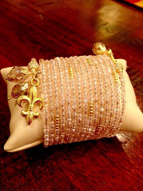 """Murmure Rose"" Crystal Wrap Bracelet"
