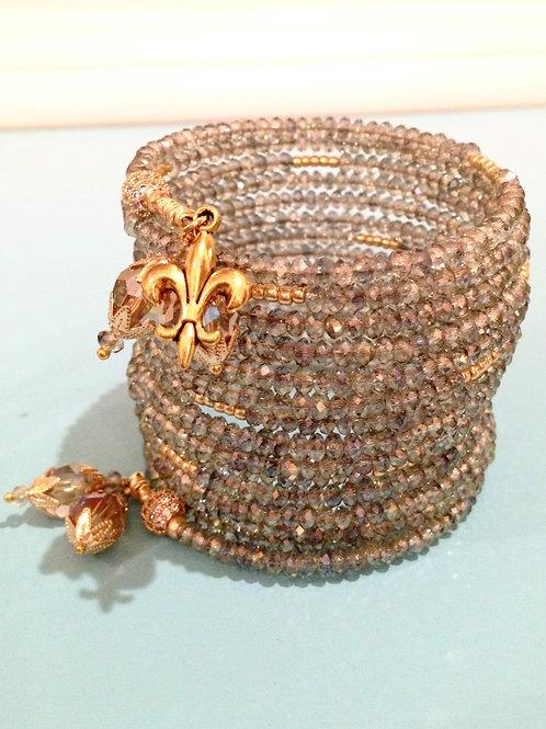 """""""Impératrice"""" Crystal Wrap Bracelet"""
