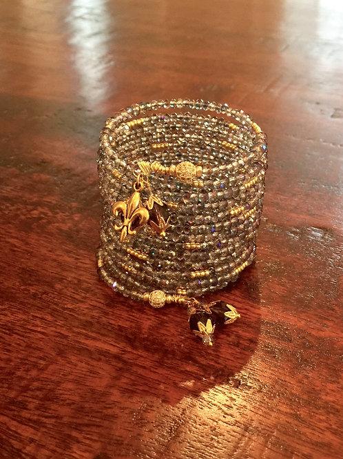"""""""Glace Fumée"""" Crystal Wrap Bracelet"""