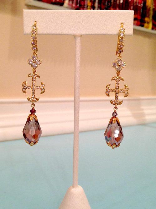 """""""Croix Française Deux"""" Earrings"""