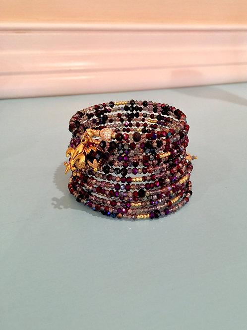 """""""Magie de Minuit"""" Crystal Wrap Bracelet"""