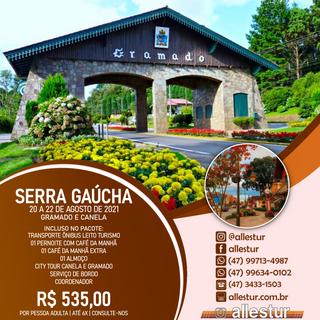20 A 22/08/2021 - SERRA GAÚCHA - GRAMADO E CANELA