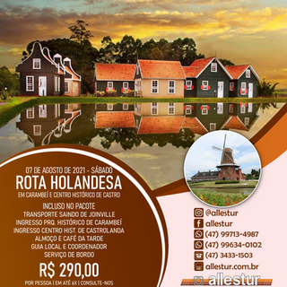 07/08/2021 - ROTA HOLANDESA