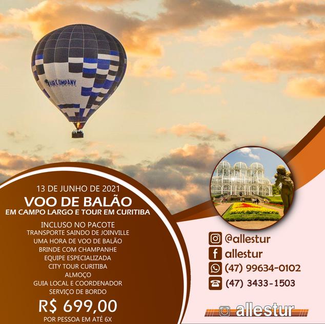 13/06/2021 - VOO DE BALÃO E TOUR CURITIBA
