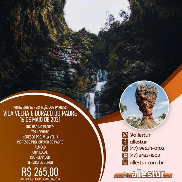 16/05/2021 - PARQUE VILA VELHA E BURACO DO PADRE