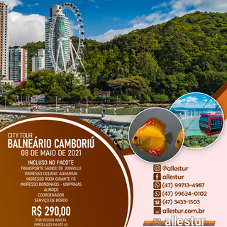 08/05/2021 - CITY TOUR BALNEÁRIO CAMBORIÚ