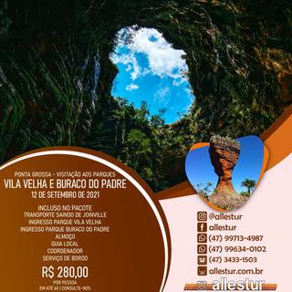 12/09/2021 - PARQUE VILA VELHA E BURACO DO PADRE