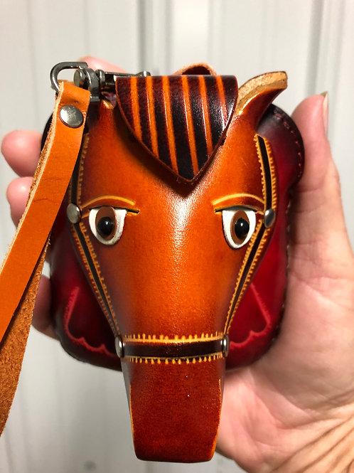 Leather Horse Wristlet