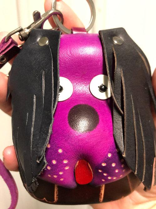Leather Dog Wristlet