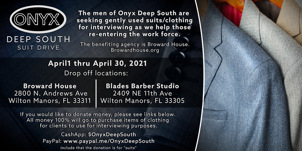 ONYX Suit Drive Benefit