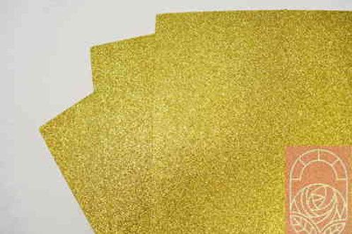 Фоамиран глиттерный светлое золото 2 мм