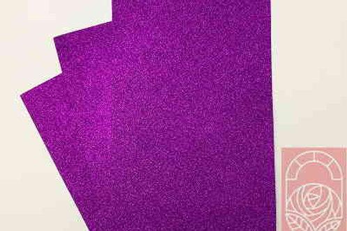 Фоамиран глиттерный темно-сиреневый 2 мм