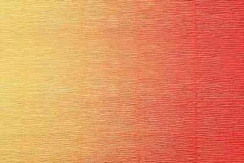 576/9 Бумага гофрированная переход темно-малиновый 180 гр