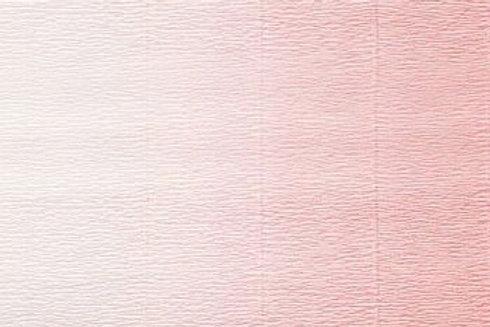 600/4 Бумага гофрированная переход бело-розовый 180 гр