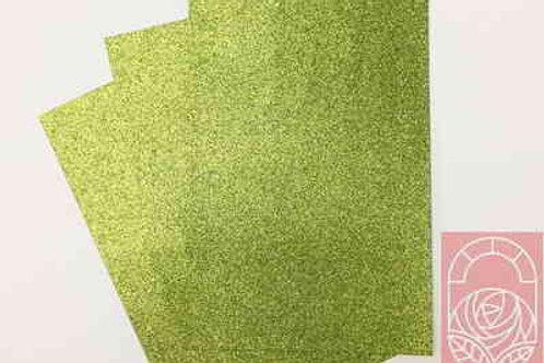 Фоамиран глиттерный салатовый 2 мм