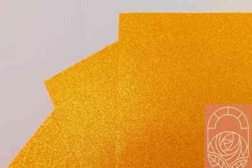 Фоамиран глиттерный оранжевый 2 мм