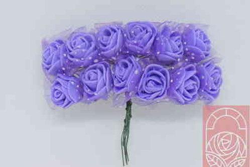 Мини-розы фиолетовые