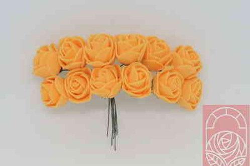 Мини-розы оранжевые