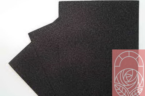 Фоамиран глиттерный черный 20х30 см