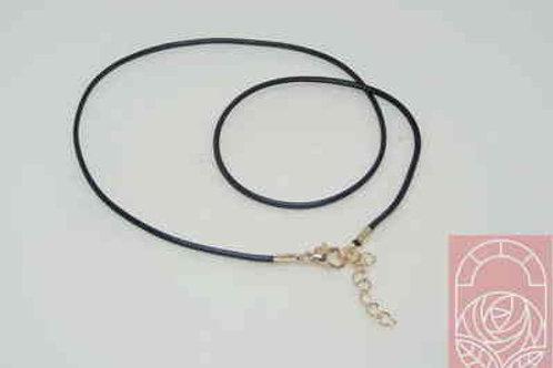 Шнур на шею черный 44 см d-1,3 мм