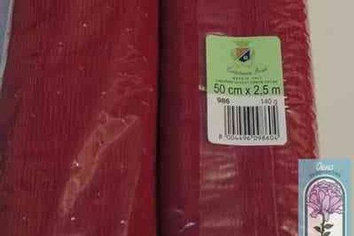 986 Бумага гофрированная вишневая 140 гр