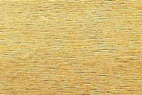 806 Бумага гофрированная светлое золото 180 гр