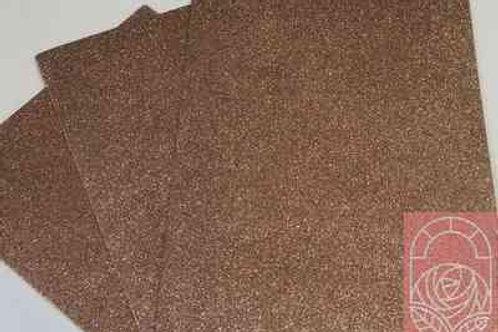 Фоамиран глиттерный светло-коричневый 2 мм