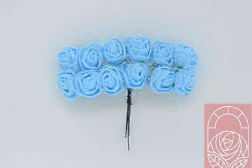Мини-розы голубые 12 шт
