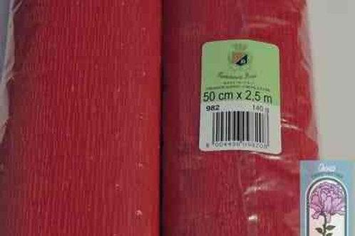 982 Бумага гофрированная светло-вишневая 140 гр