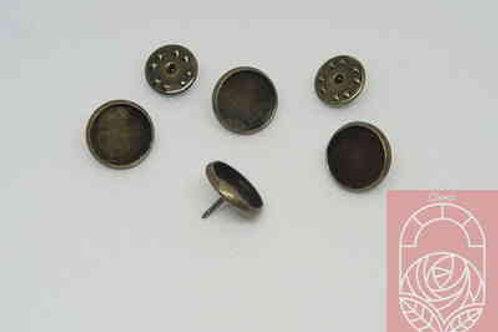 Основание и шпилька для броши цвет бронза