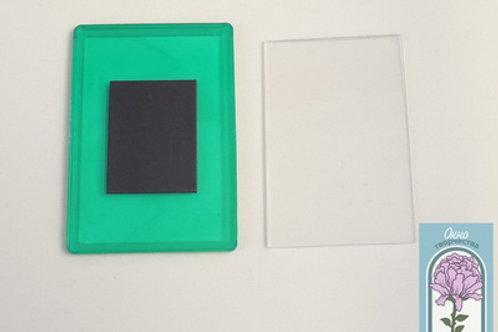 Магнит прямоугольный, зеленый