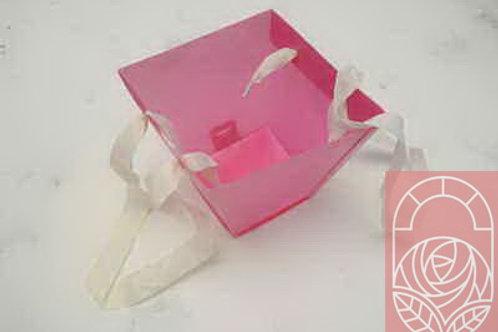 Кашпо пластиковое конус розовое