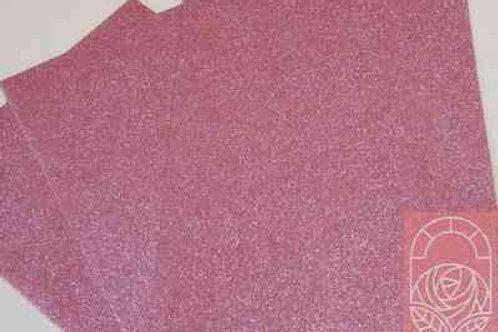 Фоамиран глиттерный розовый 2 мм