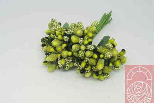 Тычинки букет цвет оливковый