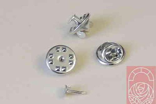 Основание и шпилька для броши цвет серебро