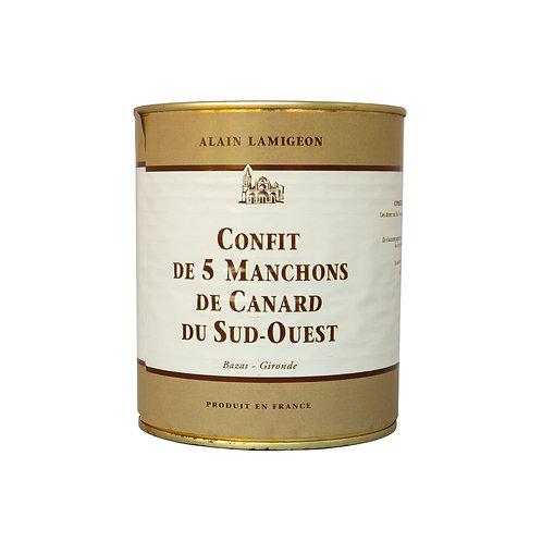 CONFIT DE 5 MANCHONS DE CANARD