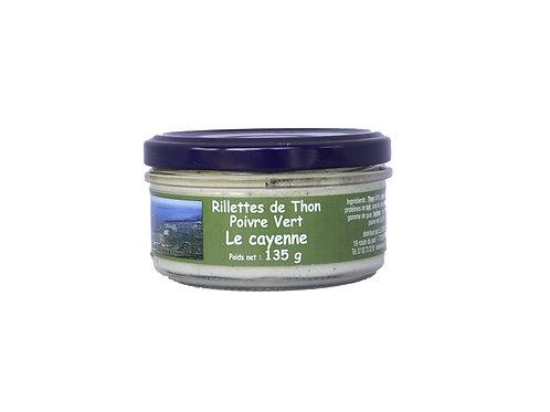 RILLETTES DE THON POIVRE VERT 135g