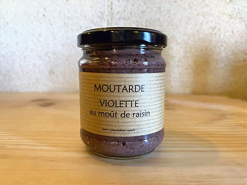 MOUTARDE VIOLETTE AUX MOÛT DE  RAISIN