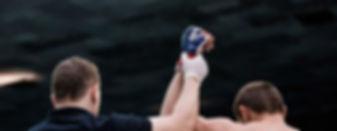 Vencedor luta de boxe