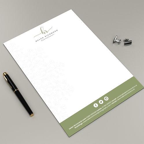 Letterheads - Premium 120 g/m Design Service