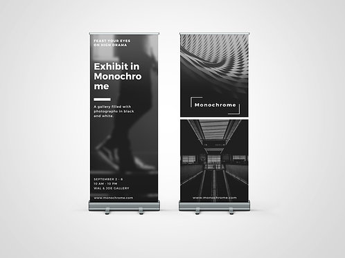 DOUBLE SIDED ROLLER BANNER DESIGN SERVICE
