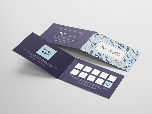 Folded Business Card Design Service