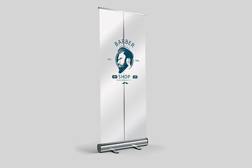 CUSTOM PRINTED TRANSPARENT ROLLER BANNERS DESIGN SERVICE